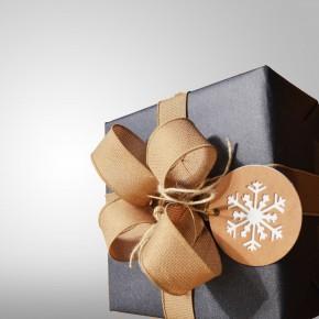 Hübsch eingepacktes Weihnachtsgeschenk
