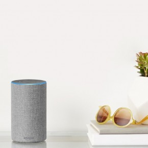 Amazo Echo in hellgrau